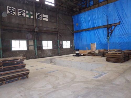 奥谷金網製作所㈱明石工場機械基礎
